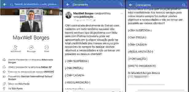 Perfil, informações e anúncio são falsos e fazem parte de golpe, diz Detran - Reprodução/Facebook