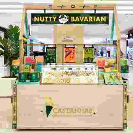 Quiosque da Nutty Bavarian, rede de franquias especializada em castanhas - Divulgação