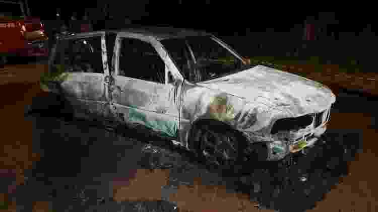 Família de Ruan também identificou o carro incendiado como sendo do cantor - Divulgação/Polícia Civil-AC