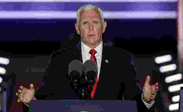 Mike Pence discursa durante Convenção Nacional do Partido Republicano dos Estados Unidos - Reprodução - Reprodução