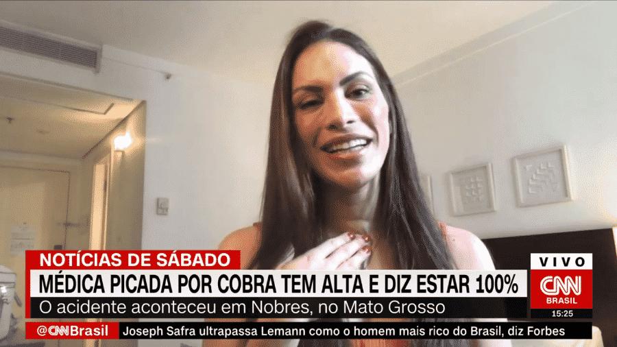 """""""Em nenhum momento pensei em deixar de fazer as coisas que faço"""", disse Dieynne Saugo à CNN - Reprodução/CNN Brasil"""