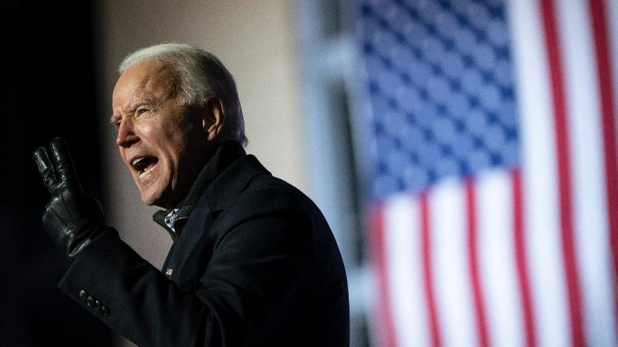 2.nov.2020 - Joe Biden, candidato Democrata à presidência do EUA - Drew Angerer/Getty Images