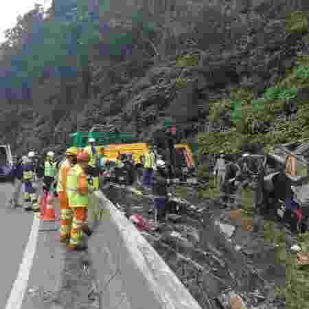 Acidente matou 19 pessoas em Guaratuba, no PR - Divulgação/PRF - Divulgação/PRF