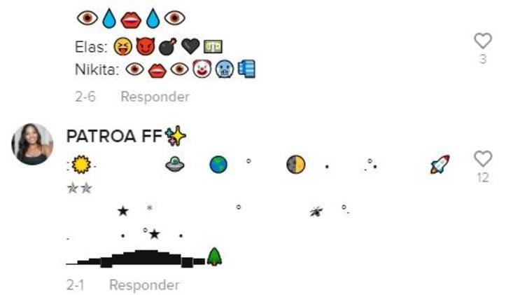 Emojis do TikTok - Reprodução - Reprodução