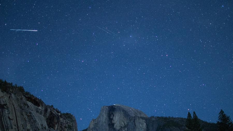 Eta Aquáridas registrada no parque Yosemite, na Califórnia (EUA) em 2014 - Getty Images