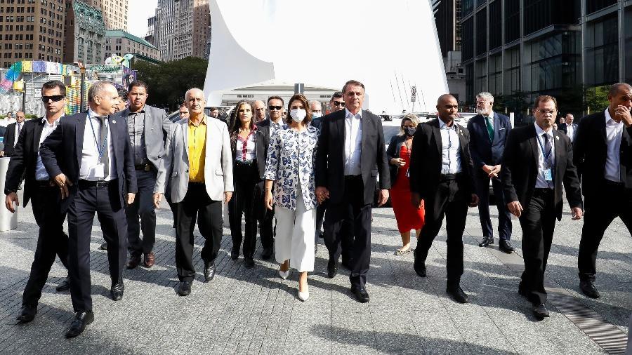 Presidente Jair Bolsonaro e comitiva visitam memorial às vítimas do 11 de Setembro em Nova York - Alan Santos/PR