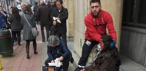 """Relato: """"Vi uma menina de 3 anos com braço queimado. Ela chorava"""" - Michael Villa/ AFP"""