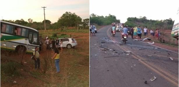 Carro de prefeito eleito de Santana do Piauí colidiu contra ônibus