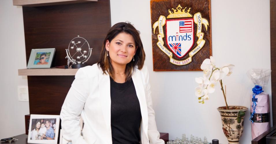 Leiza Oliveira, CEO da franquia Minds Idiomas