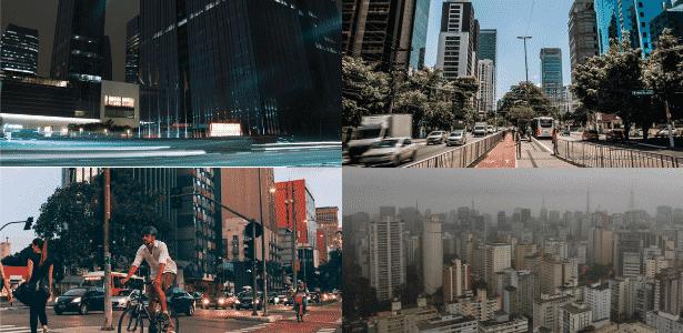 A partir do alto à esq., em sentido horário, o Complexo JK e as avenidas Berrini, Paulista e Faria Lima, onde se localizam os imóveis controlados por offshores - Arte/UOL