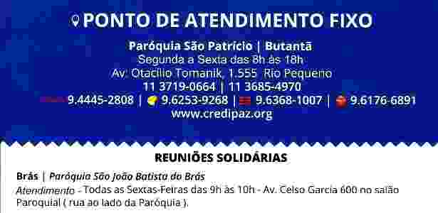 Verso do folheto da Credipaz - Divulgação - Divulgação
