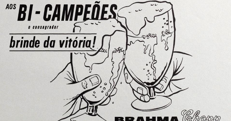 Anúncio da Brahma em 1962