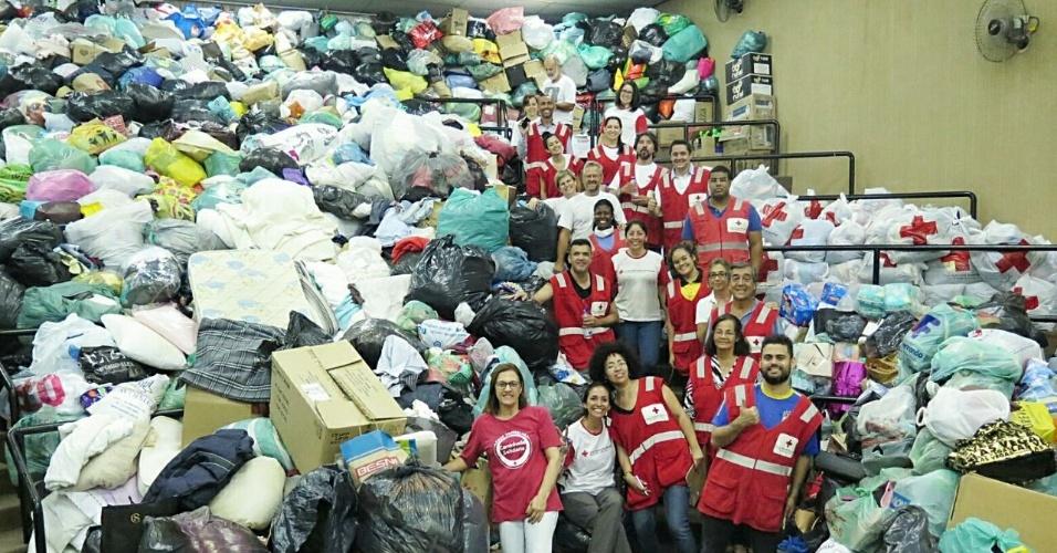 A Cruz Vermelha arrecadou mais de cinco toneladas de doações feitas às pessoas que ficaram desabrigadas após desabamento do edifício Wilton Paes de Almeida, no centro de São Paulo