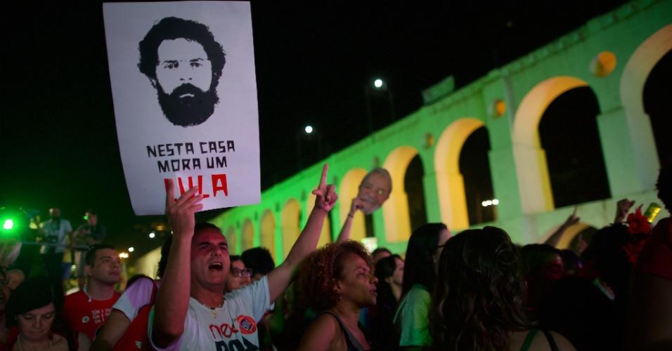 28.jul.2018 - Festival Lula Livre foi organizado no bairro da Lapa, na região central do Rio de Janeiro