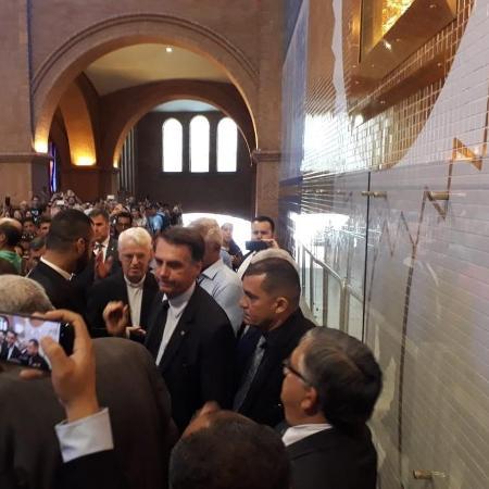 Bolsonaro faz visita à Basílica de Aparecida, no interior de SP - Divulgação