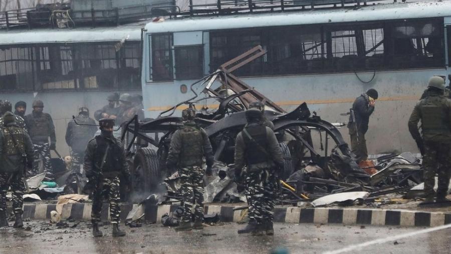 O ataque de 14 de fevereiro que matou mais de 40 soldados indianos foi um dos mais mortíferos em décadas - Getty Images