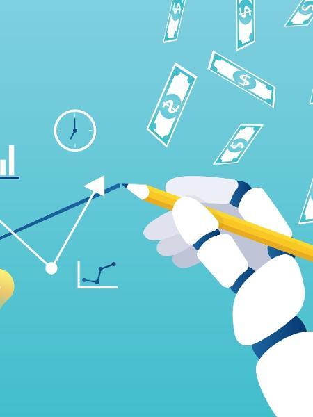 investimentos, finanças pessoais, robô, inteligência artificial, dinheiro, bolsa de valores, mercado - Feodora Chiosea/Getty Images/iStockphoto