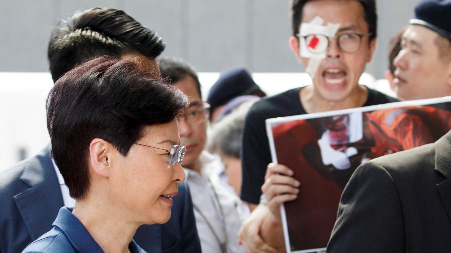 A líder de Hong Kong, Carrie Lam - Thomas Peter/Reuters