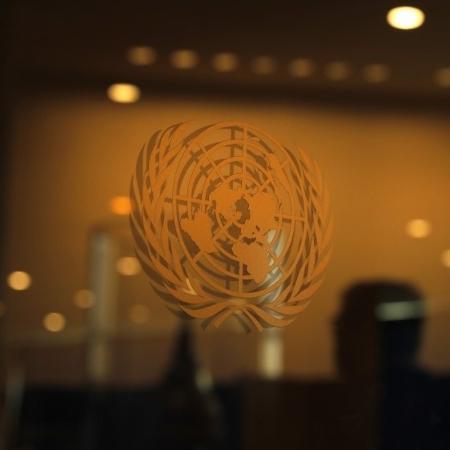 Logo da ONU em sede de Nova York - Lucas Jackson