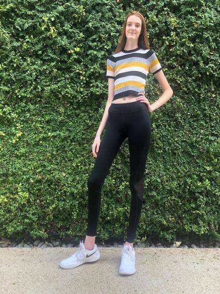 Maci Currin, a adolescente com pernas mais longas do mundo, segundo o Guinness World Records - Reprodução/@_maci.currin_/Instagram