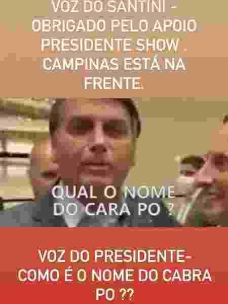 Adversários trolam candidato de Campinas após aparição de Bolsonaro - Reprodução/Instagram