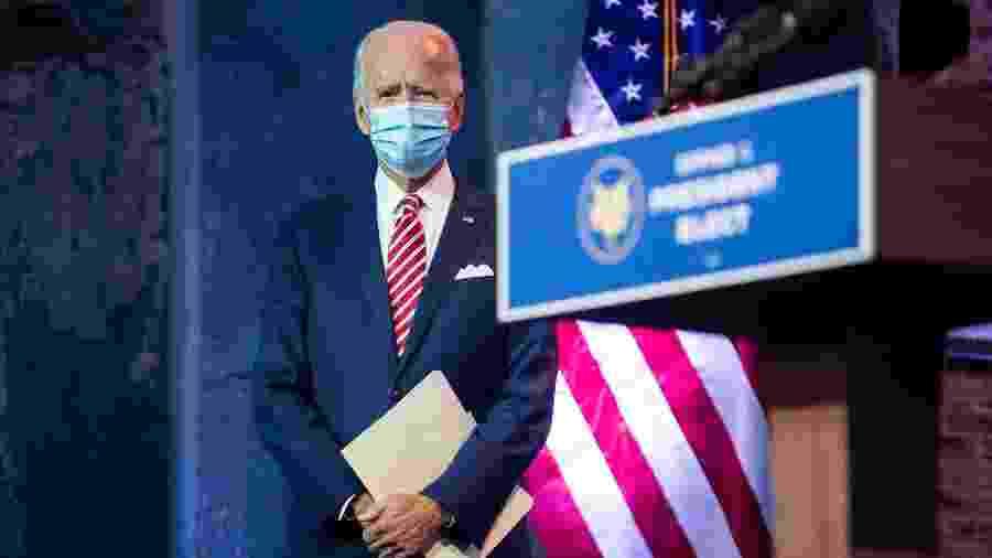 O presidente eleito dos Estados Unidos, Joe Biden, em Wilmington, Delaware - Roberto Schmidt/AFP