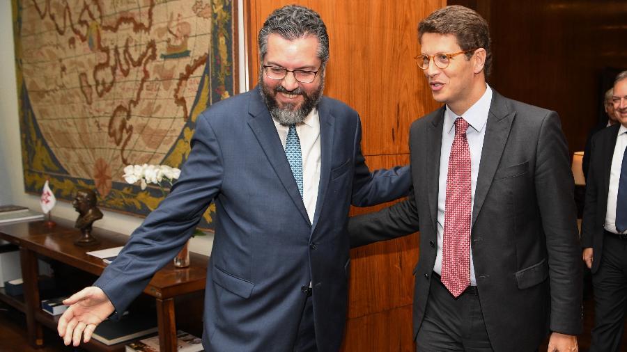 Salles é alvo de pressão envolvendo acordo UE-Mercosul e política ambiental; hoje, Ernesto pediu demissão do Itamaraty - Arthur Max/AIG-MRE