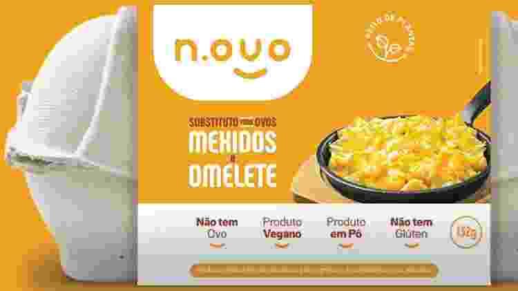 O N.ovo Mexido é um ovo vegano em pó para substituir o tradicional no preparo de omeletes - Divulgação - Divulgação