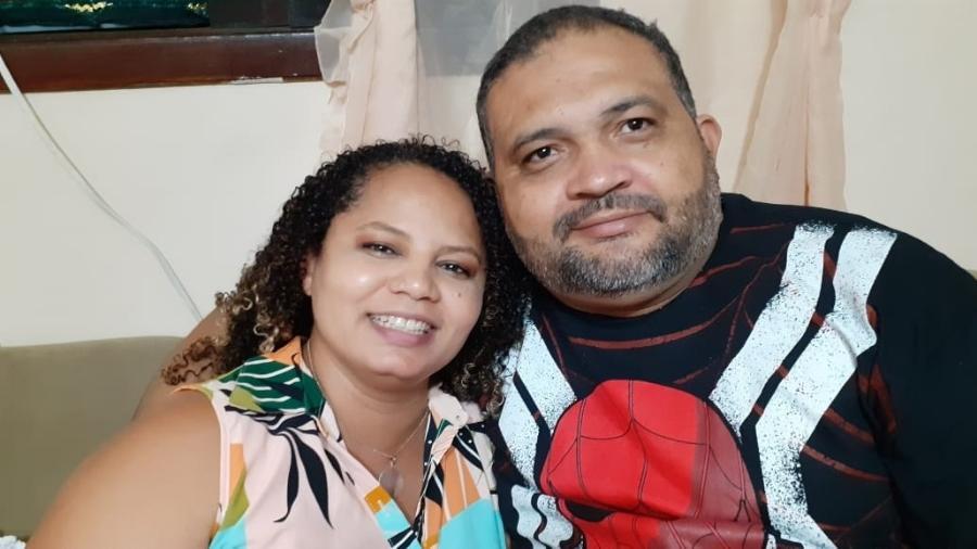 Hermenegildo Tenório da Silva morreu no dia 8 de abril e sua esposa, Lidiane Peres Tenório, abriu um financiamento coletivo para pagar as dívidas hospitalares - Arquivo pessoal