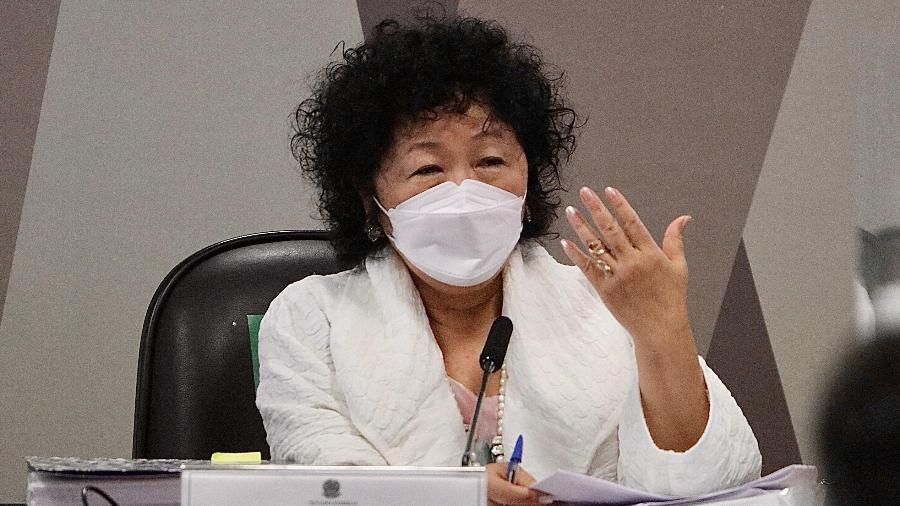 Médica Nise Yamaguchi durante depoimento na CPI da Covid, no Senado, em Brasília - FREDERICO BRASIL/FUTURA PRESS/FUTURA PRESS/ESTADÃO CONTEÚDO