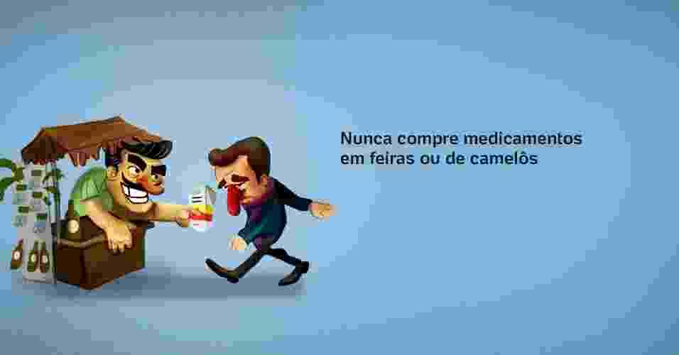 Enquanto a média mundial de remédios falsificados é de 10%, no Brasil esse número chega a 19%, segundo a OMS (Organização Mundial de Saúde) - Arte UOL