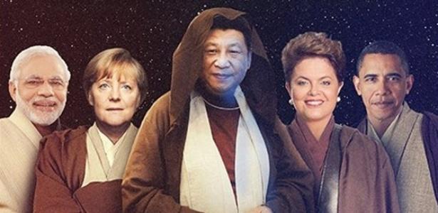 """Cartaz da """"Guerra nas Estrelas"""" da COP-21 pressiona líderes por futuro verde  - Reprodução/Avaaz"""