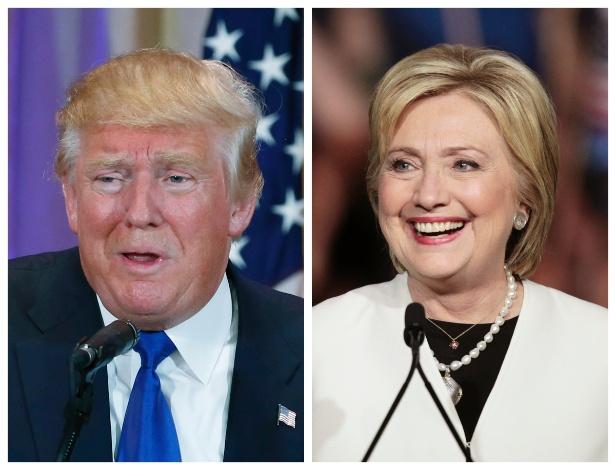 Donald Trump e Hillary Clinton, pré-candidatos à Presidência dos EUA