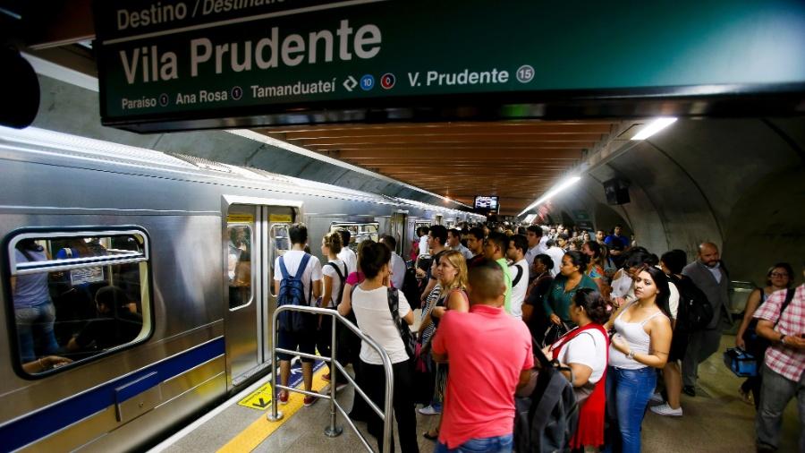 Estação Consolação da Linha - 2 Verde do Metrô - Rubens Cavallari-9.mar.2016/Folhapress