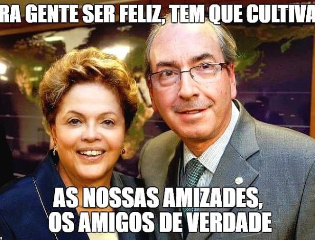 A presidente Dilma Rousseff e o deputado federal Eduardo Cunha são os mais citados nos memes sobre o impeachment