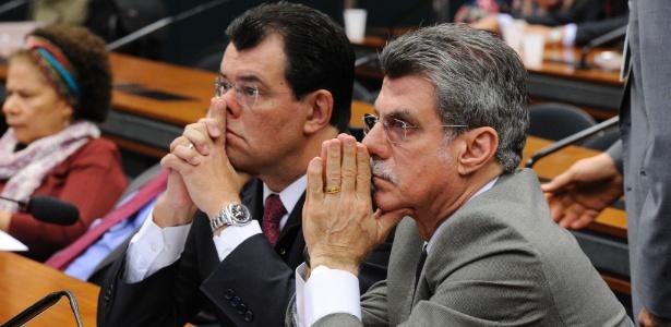 Os senadores Eduardo Braga (PMDB-AM, à esquerda) e Romero Jucá (PMDB-RR) farão parte do Conselho de Ética do Senado