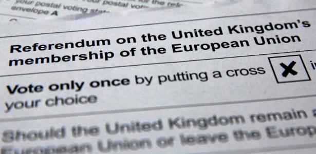 1º.jun.2016 - Ilustração da cédula de votação para o referendo que irá decidir, em 23 de junho, a permanência ou não do Reino Unido na União Europeia