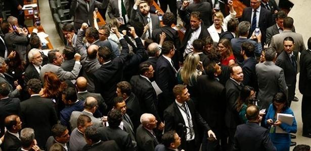 Plenário da Câmara logo após a divulgação da notícia sobre a delação dos donos da JBS