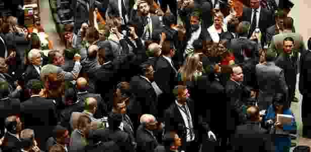 Plenário da Câmara logo após a divulgação da notícia sobre a delação dos donos da JBS - Pedro Ladeira/Folhapress