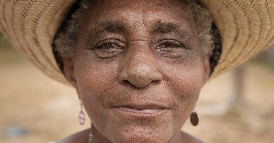 Maria José Pinto de Souza vive na comunidade do Quilombo Nazaré, na baixada ocidental maranhense