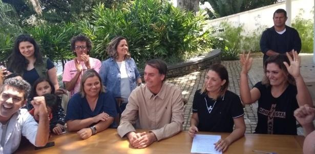 Bolsonaro, durante entrevista no Rio