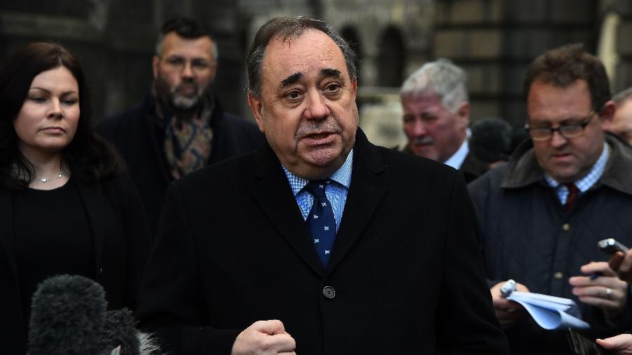 8.jan.2019 - O ex-primeiro ministro da Escócia Alex Salmond foi preso por acusações de assédio sexual, informou a polícia - Andy Buchanan/AFP