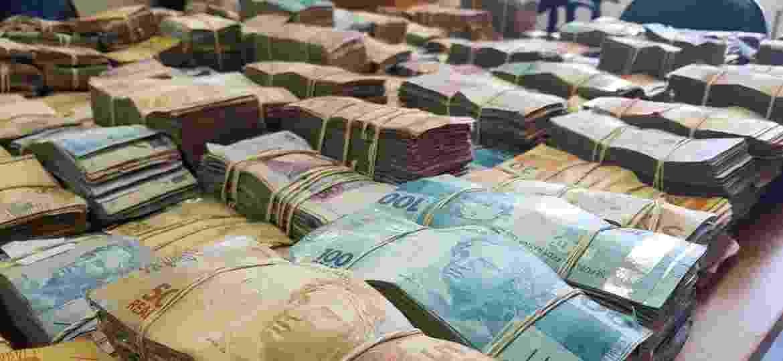 Operação recente do Gaeco contra facção criminosa de SP apreendeu quase R$ 900 mil - 03.mai.2019 - Divulgação/PM