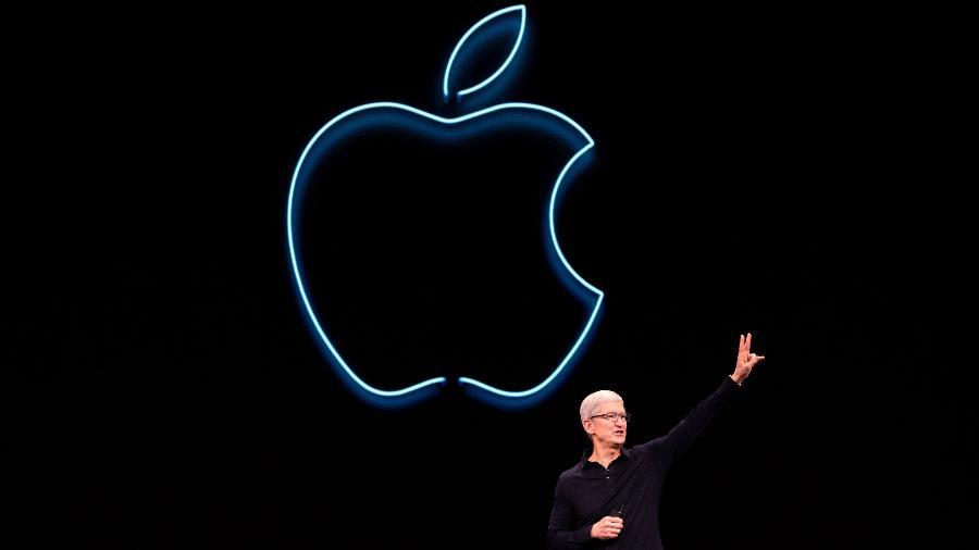 Novos iPhones são revelados dentro da sede da Apple, nos EUA  - Brittany Hosea-Small/AFP