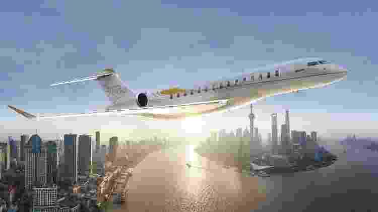 Além de mais caro, o Bombardier Global 7500 também tem o maior alcance da categoria - Divulgação - Divulgação