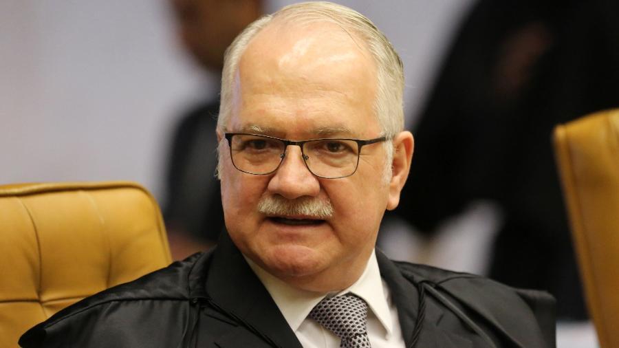 O ministro Edson Fachin durante sessão plenária no Supremo Tribunal Federal - Fátima Meira/Futura Press/Estadão Conteúdo