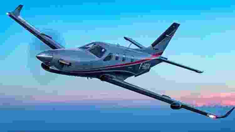 TBM 940 tem velocidade máxima de cruzeiro de 611 km/h - Divulgação  - tbm 940 tem velocidade maxima de cruzeiro de 611 kmh 1574381653572 v2 750x421 - Avião a hélice é simples por fora, mas tem luxo de jato por até R$ 32 mi