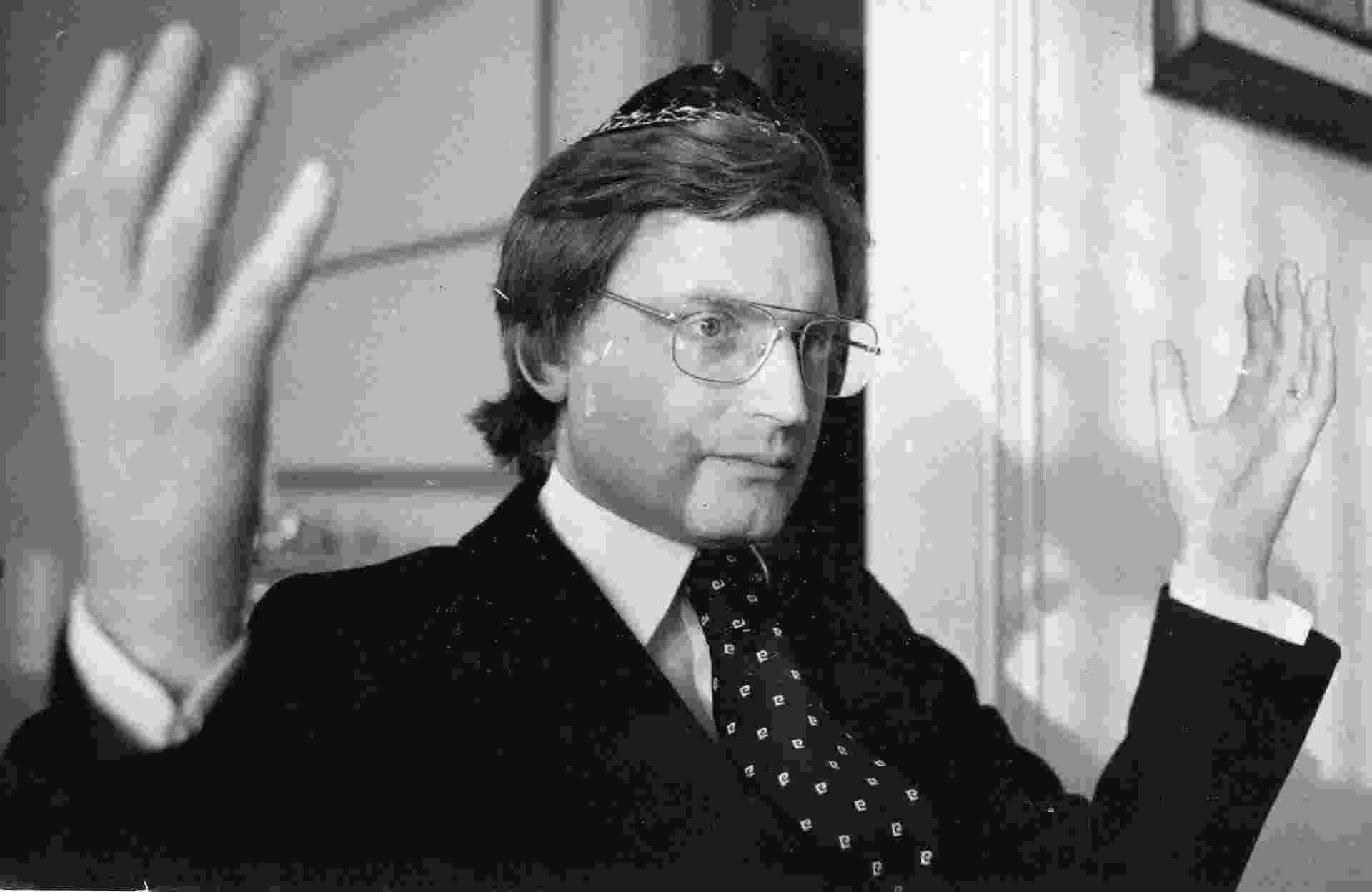 21.set.1979- Em nome do povo judeu, o rabino Henry Sobel afirmou que a mensagem religiosa do ano novo judeu inclui o desejo de paz no Oriente Médio e o fim das violações dos direitos humanos - Luiz Carlos Murauskas/Folhapress