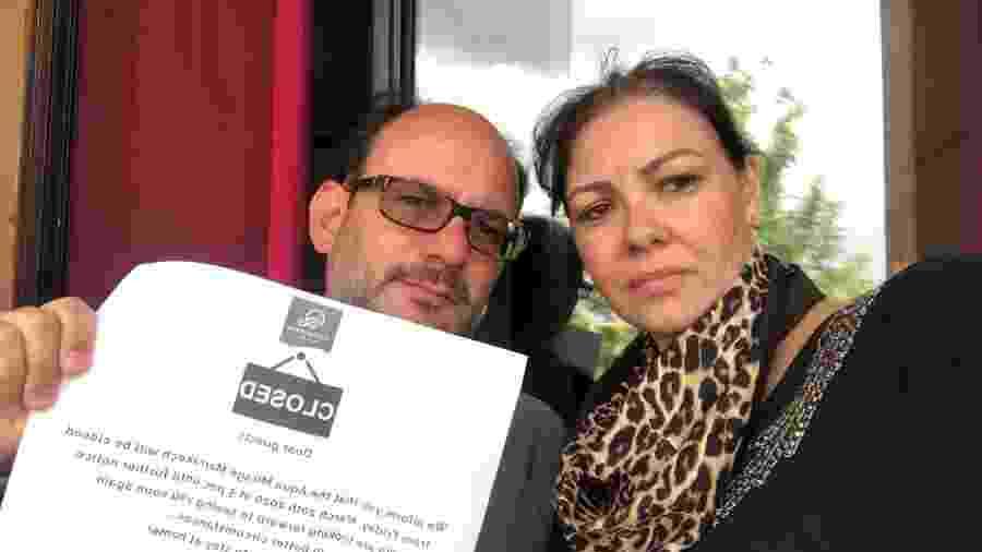 O engenheiro Alexandre Paulino Bruno e a mulher, a dentista Maria Guilhermina Izar, 42, devem voltar amanhã no voo fretado pela Record - Arquivo Pessoal