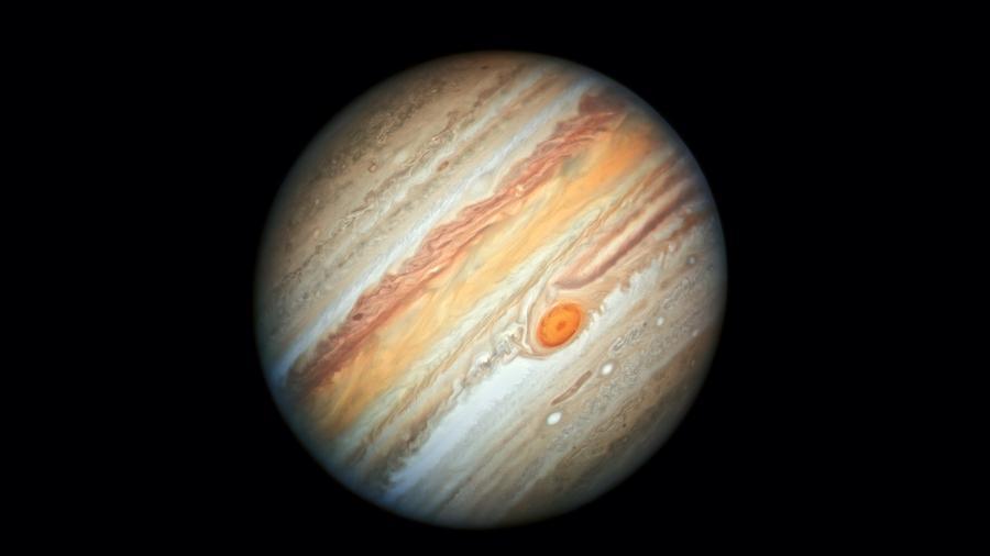 Planeta Júpiter fotografado pelo telescópio Hubble - NASA, ESA, A. Simon (Goddard Space Flight Center), e M.H. Wong (Universidade of California, Berkeley)